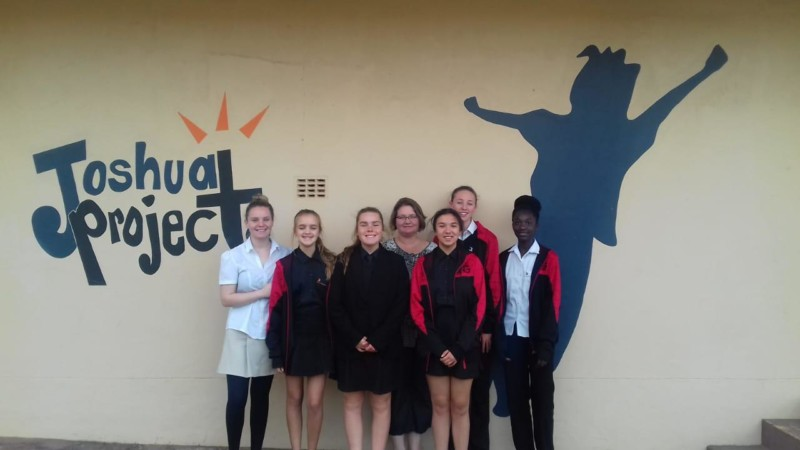 GLA students on Mandela Day outreach