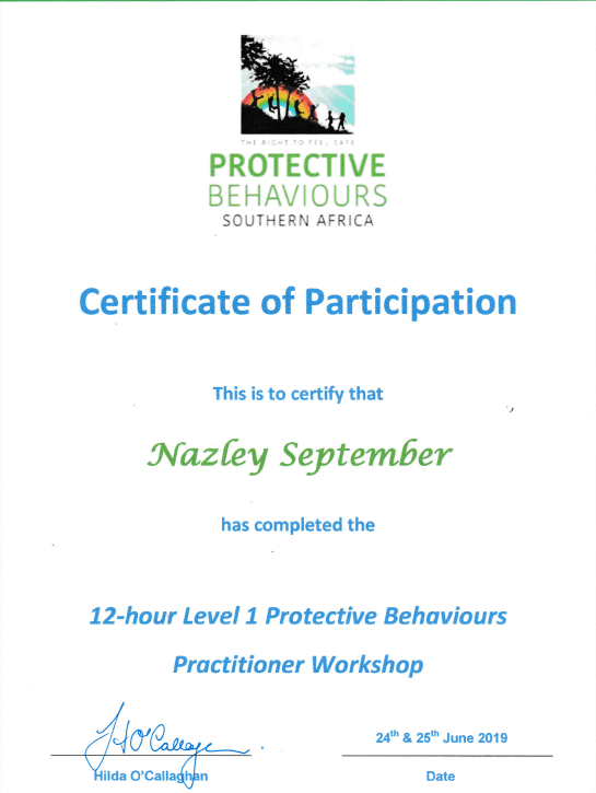 Certificate Of Participation Nazley