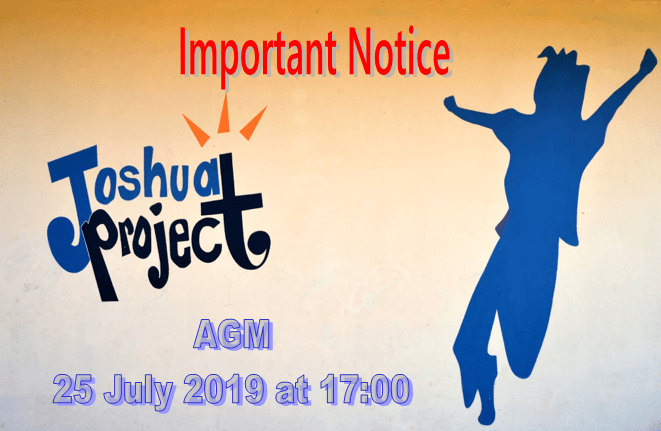 Joshua Project Agm 2019 Poster