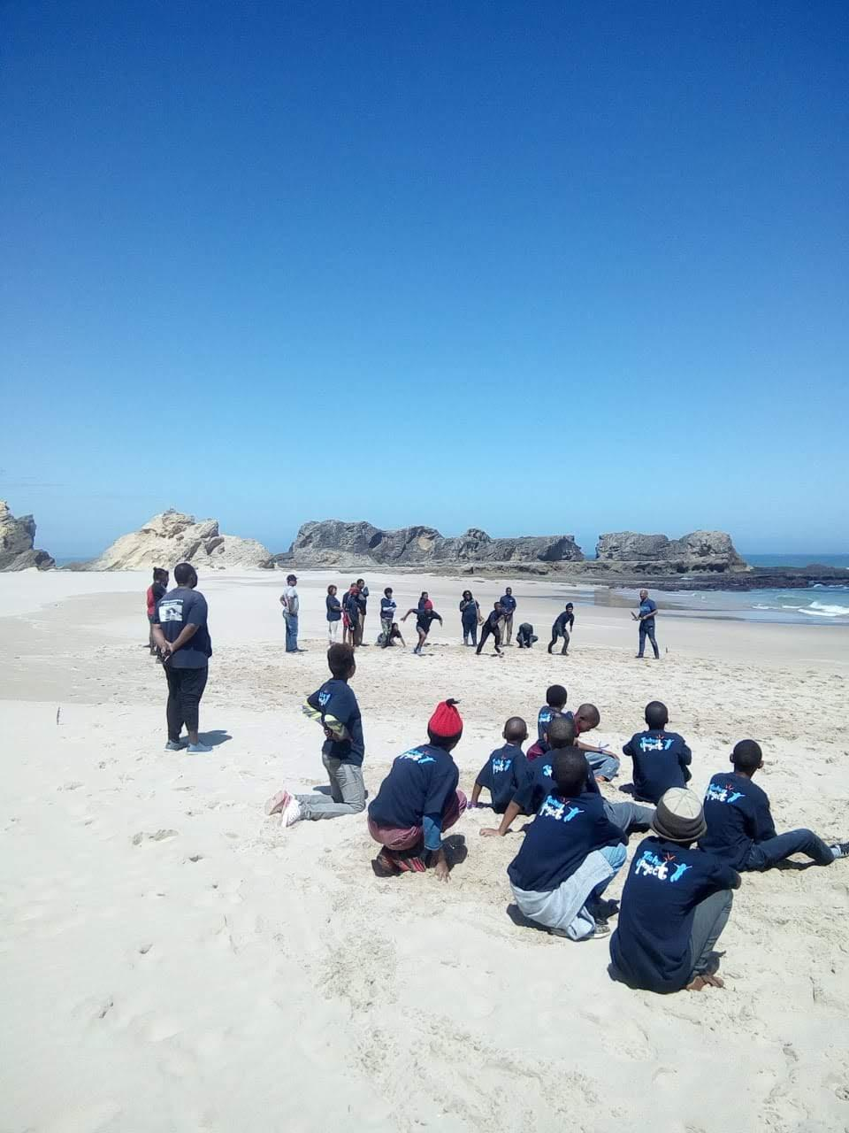 Kids Chilling On The Beach At Eersterivier