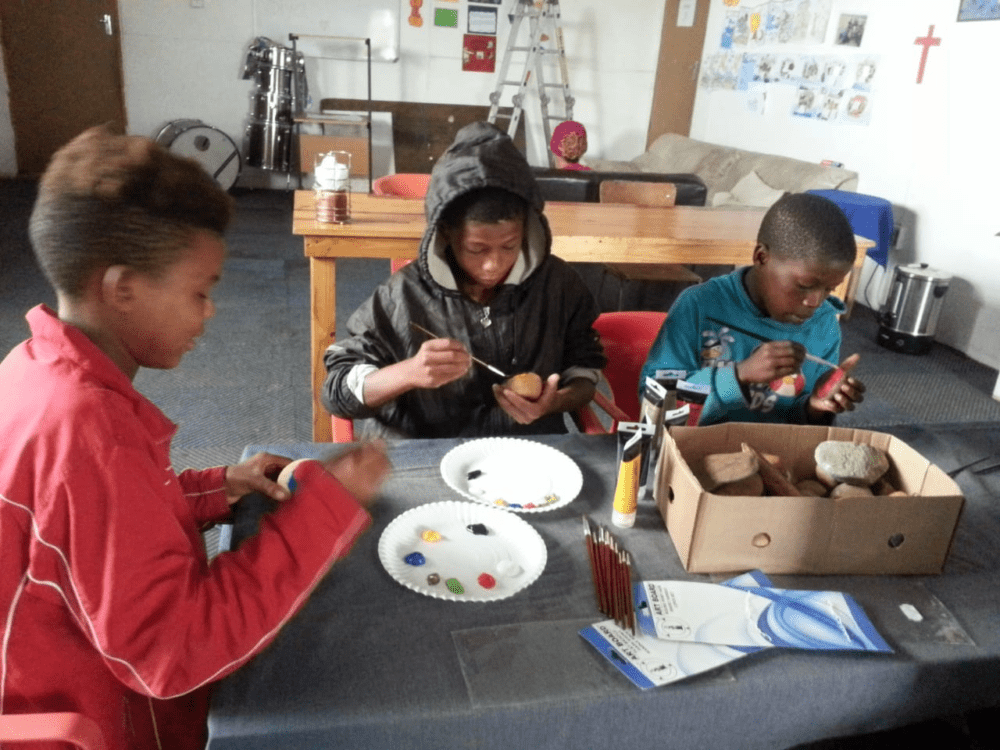 Kids Painting At Joshua Project